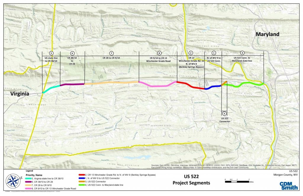 Route 522 Virginia Map.State Sets Public Meeting On 522 Bypass Project The Morgan Messenger