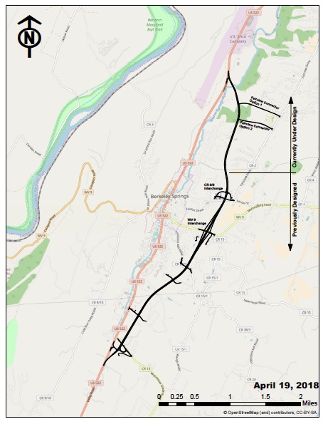 Route 522 Virginia Map.Senate Approves 20 Million In Federal Funding For Berkeley Springs