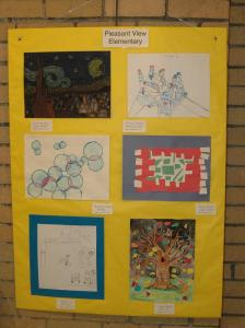 Pleasant View Elementary art